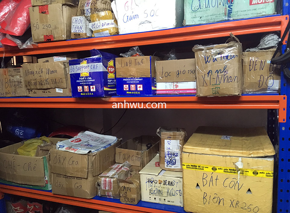 Vietnam off-road and touring motorbike parts for sale in Hanoi, Northern Vietnam. Shop parts in stock