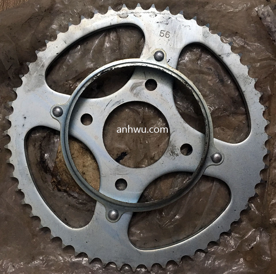 Vietnam off-road and touring motorbike parts for sale in Hanoi, Northern Vietnam. Honda XL125 rear sprocket.