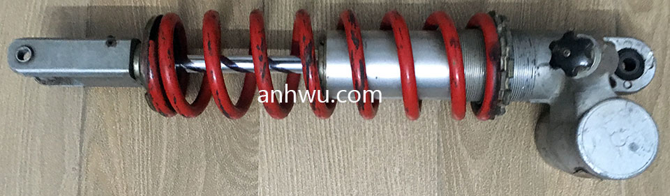 Vietnam off-road and touring motorbike parts for sale in Hanoi, Northern Vietnam. Rear Suspension for Honda CR125.